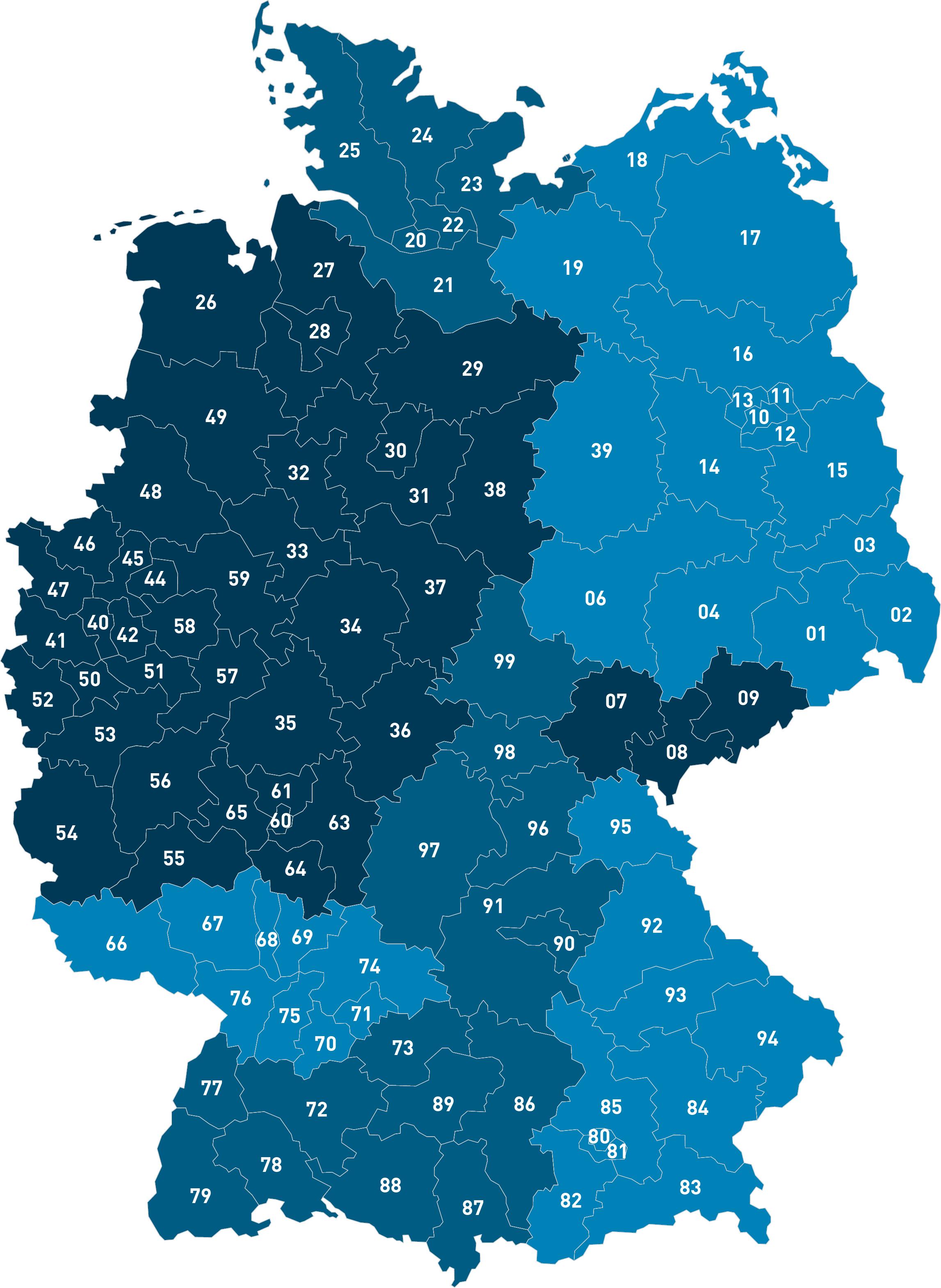 Vertriebspunkte in Deutschland